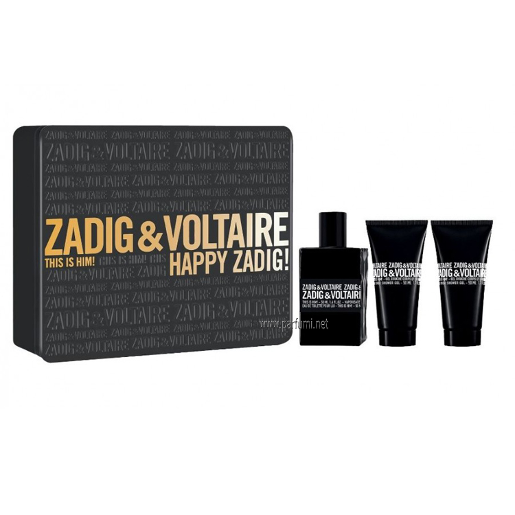 Zadig&Voltaire This is Him Комплект за мъже 50ml EDT + 2 x 50ml Душ Гел