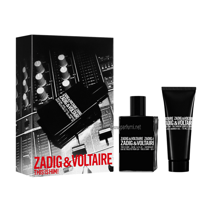 Zadig&Voltaire This is Him Комплект за мъже 50ml EDT + 75ml Душ Гел